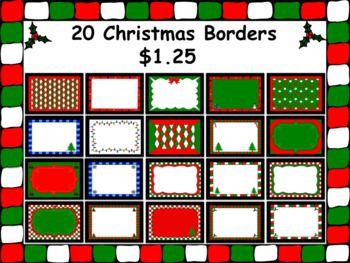 This is a Zip file with 20 Christmas Borders. Please download the preview for thumbnail pics of all the images. These images can be used for personal or commercial use. Credit back to my store is greatly appreciated. http://www.teacherspayteachers.com/Store/Carmela-Fiorino-Vieira