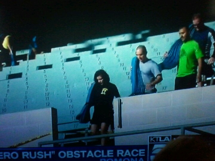 Channel 5 news spot @ hero rush 2012. Pomona fair grounds. Photo by Bianca Pantoja..thank you!