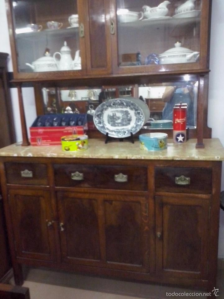 alacena aparador de cocina con marmol antiguo antigedades muebles antiguos aparadores antiguos