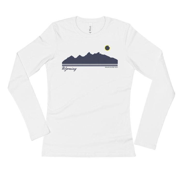 Grand Teton Silhouette 2017 Solar Eclipse - Women's Long Sleeve T-Shirt