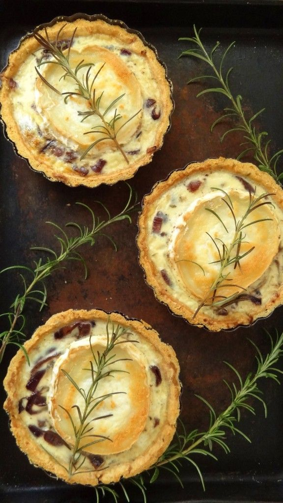 Caramelised Red Onion & Goats Cheese Tarts (Be sure your cheeses are rennet free or contain vegetarian rennet