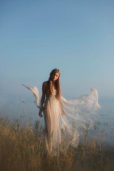 angels: Fantasy, Angel, Hair Colors, Beaches Dresses, Dreams, Photo, Vivienne Mok, White Gowns, Fairies Tales