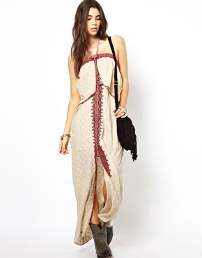 Free People Maxi Dress in Floral Jacquard