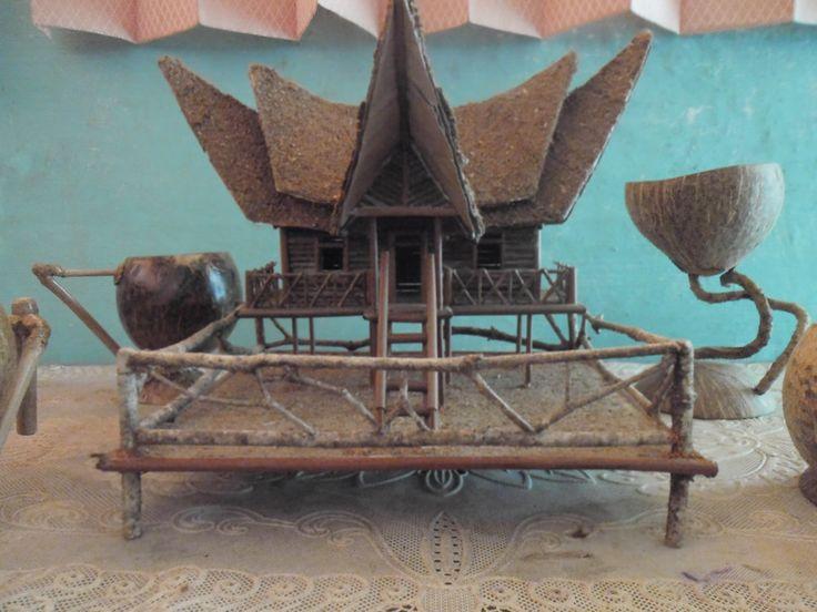 Miniature Traditional Homes Rumah Gadang Minangkabau Craft by RiKeCraft on Etsy