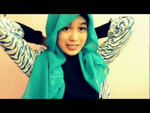 Simple Tudung Bawal / Square Hijab Tutorial - Kiena Suhaimi