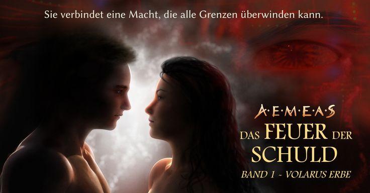Von Mark Silving gemaltes Bild für seinen Science-Fantasy-Debütroman Volarus Erbe (Aemeas: Das Feuer der Schuld 1).