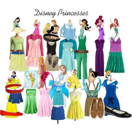 Princesses and their outfits