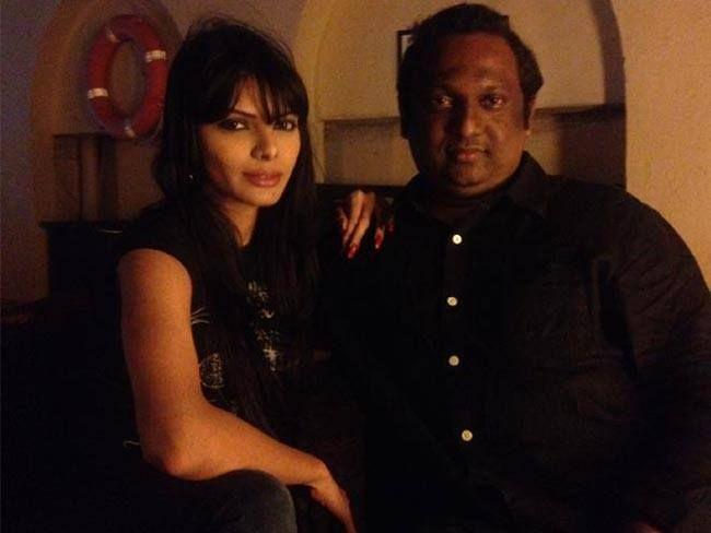 Kamasutra 3D director Rupesh Paul with Sherlyn Chopra