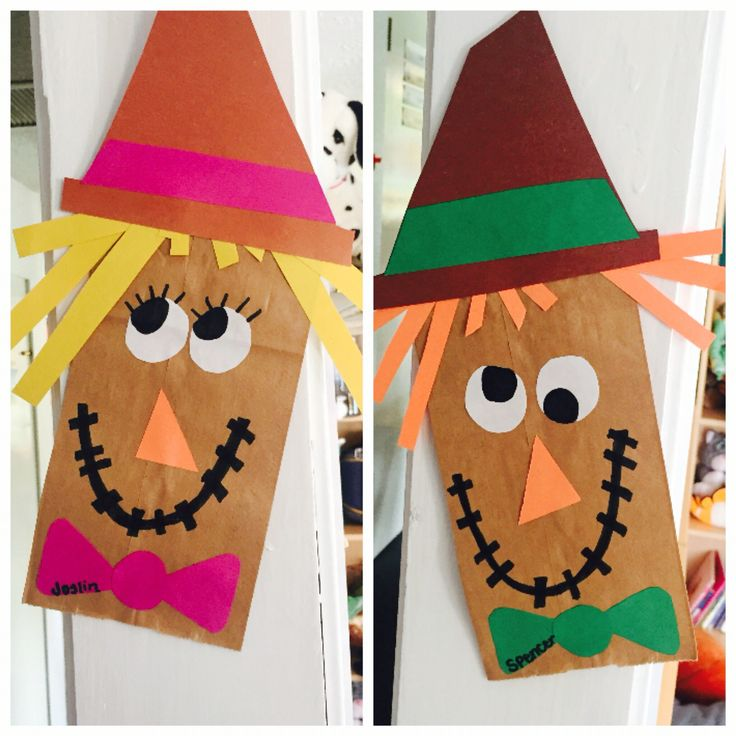 Easy paperbag scarecrow craft for kids this fall!
