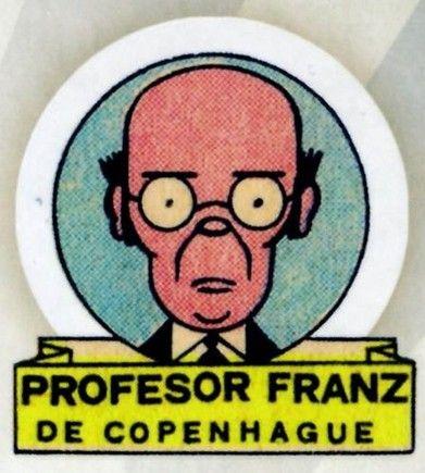 """Ramón Sabatés i Massanell (1915 -  2003) historietista del TBO conocido por la sección """"Los grandes inventos del TBO"""". Profesor Franz de Copenhague."""