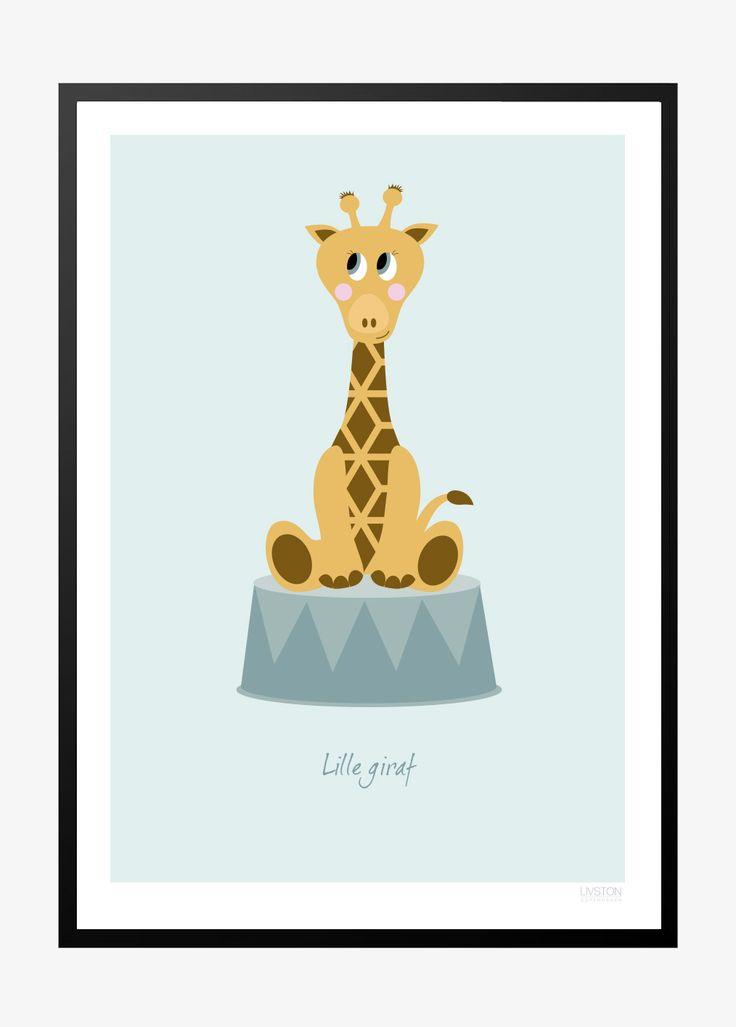 Børneplakat med giraf