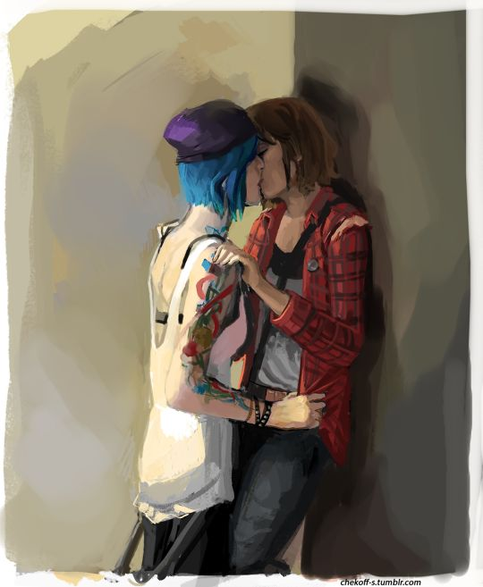 life is strange chloe price max caulfield kissing