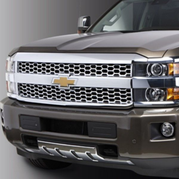 2016 #Silverado 2500 #Grille, Front Grille (RZ9): Make an even bigger arrival with a custom Chrome Grille that puts Silverado HD a cut above the rest.