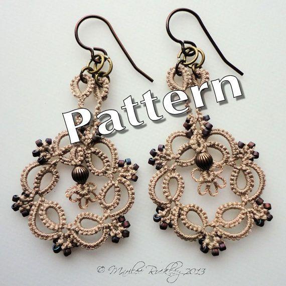 """PDF Tatting Pattern """"Kinetic Earrings"""" Instant Download"""