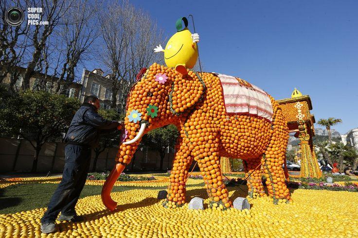 «Фестиваль лимонов» на Лазурном Берегу (7 фото) — SuperCoolPics