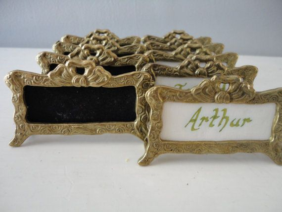 Vintage Victorian Place Card Holders by BlackberryBungalow on Etsy, $16.50
