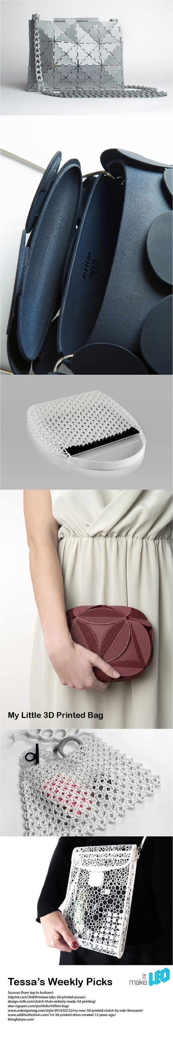 6 3D printed bag designss for an evening out - Tessa's Weekly Picks | Make it LEO