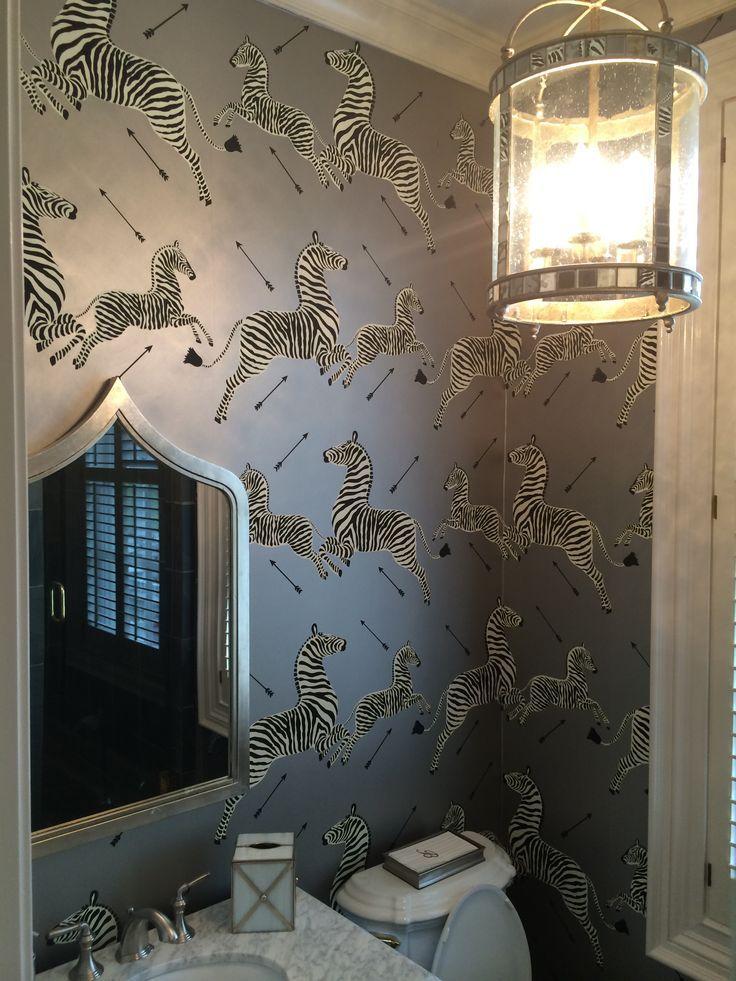 interview with the designer parker kennedy living zebra wallpapersilver wallpaperwallpaper ideashall - Designer Wallpaper For Bathrooms