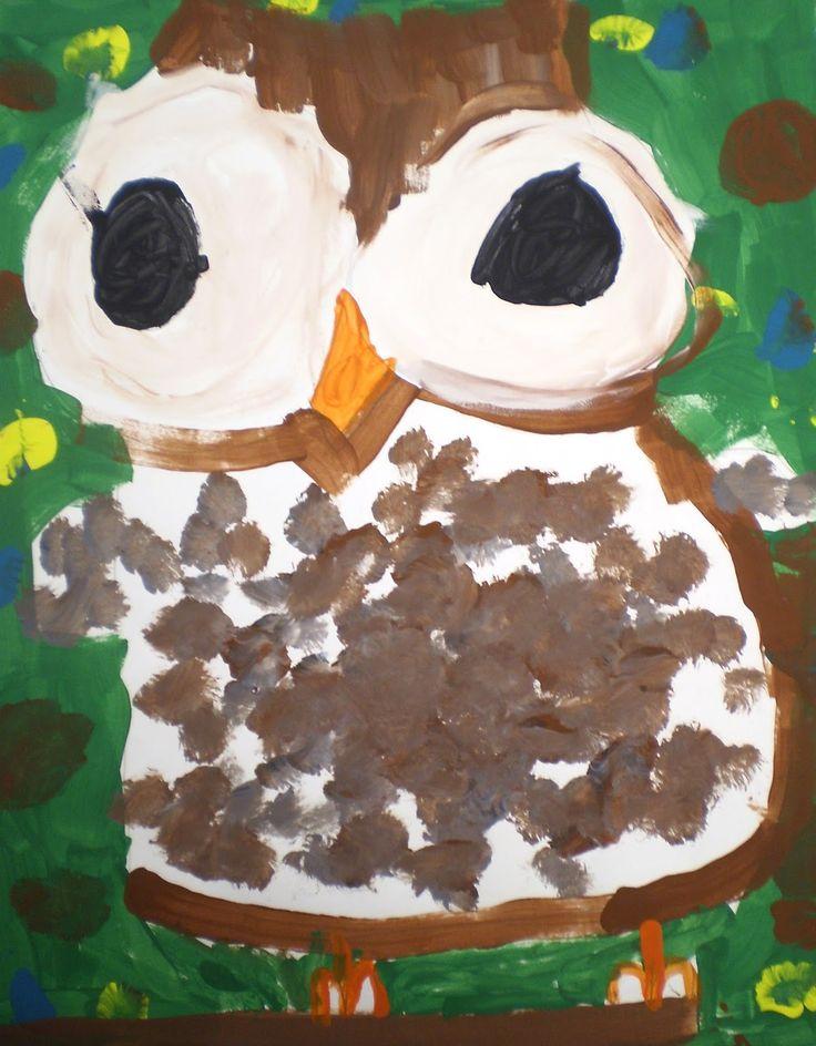 Welcome: Kindergarten Owl Paintings