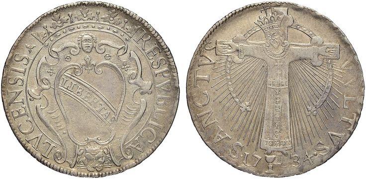 NumisBids: Nomisma Spa Auction 50, Lot 113 : LUCCA Repubblica (1369-1799) San Martino da 25 1734 – Bellesia...