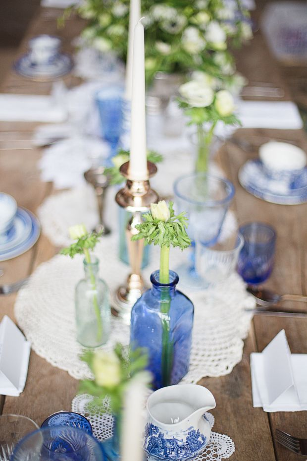 Vintage China Blue: A Beautifully Rustic Styled Wedding Shoot see more at http://www.wantthatwedding.co.uk/2015/09/11/vintage-china-blue-a-beautifully-rustic-styled-wedding-shoot/