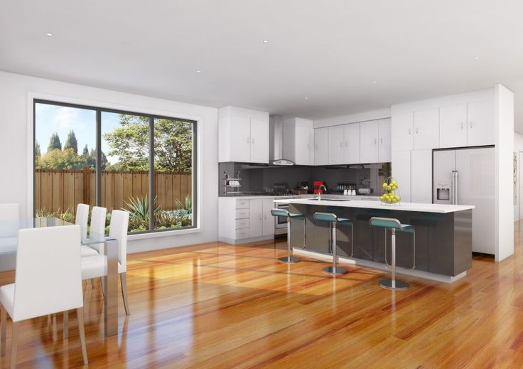Artists Impression for interior of Dual Occupancy build in Melbourne