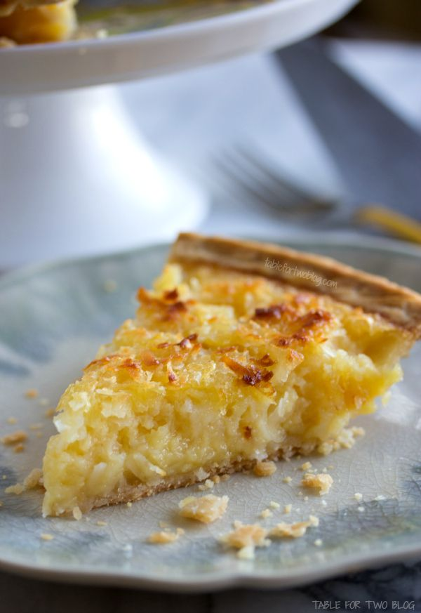 Tropical Pie (features pineapple and coconut) what a fantastic little Summertime dessert!