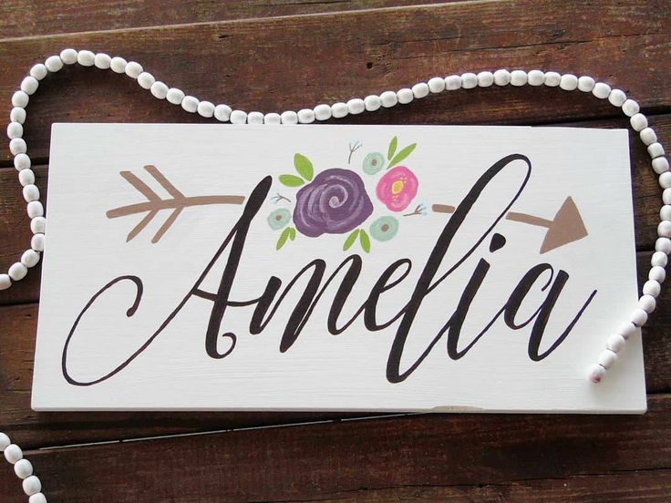 Excited to share the latest addition to my #etsy shop: Girl's Name Personalized Sign - Flower Sign - Wood Sign - Girl's Decor http://etsy.me/2F7gzHB