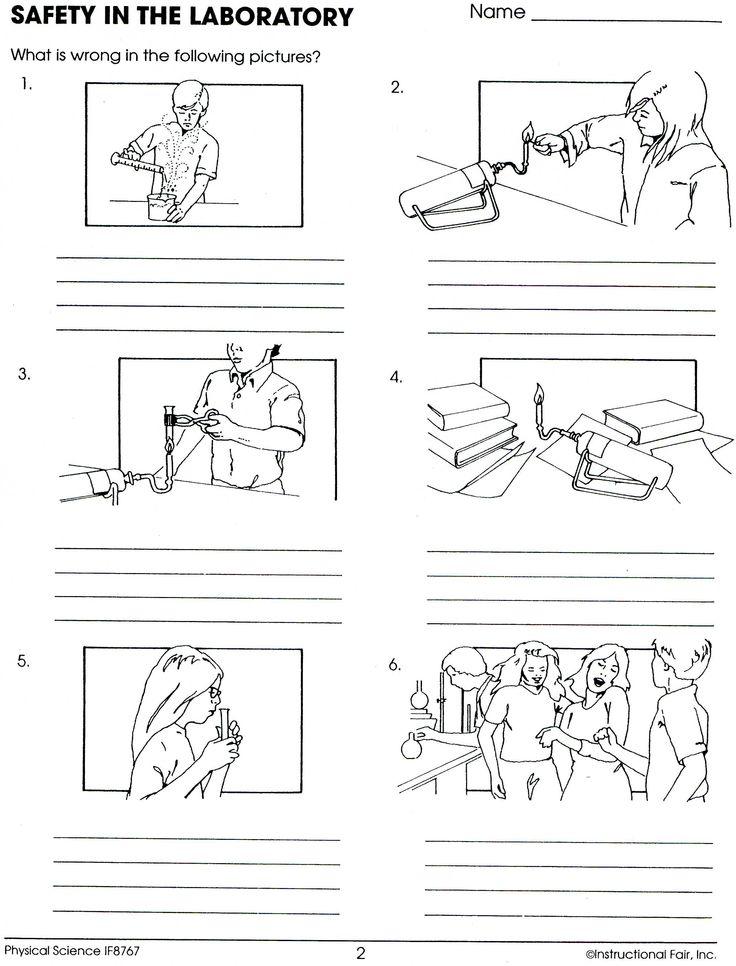 Lab Safety Worksheet Lee Keller school Pinterest See