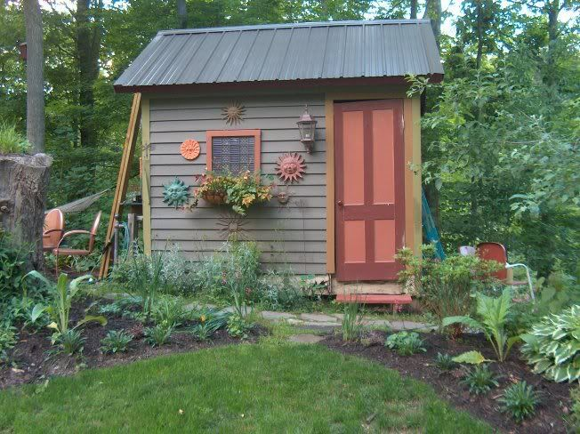 Cute shed gardening pinterest gardens storage sheds for Outdoor storage sheds for sale cheap