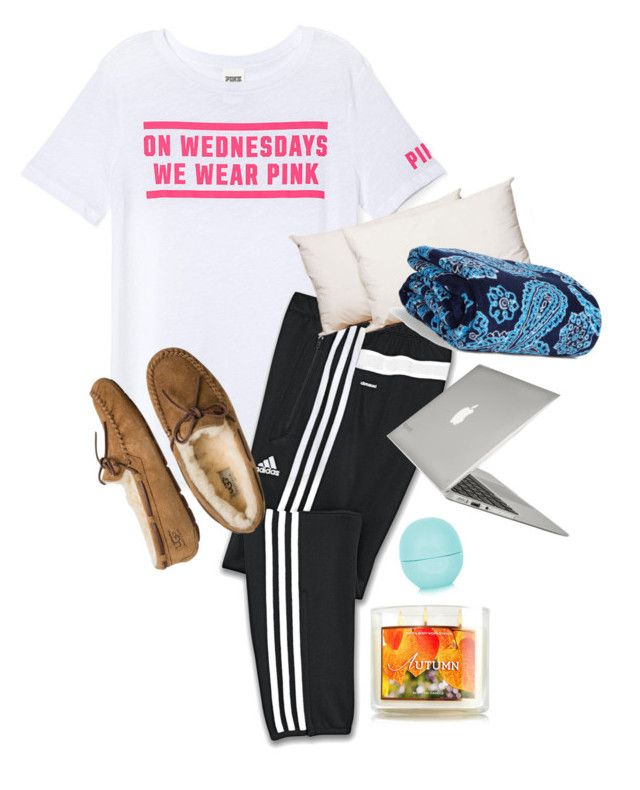 """Ootd"" by annahbirch ❤ liked on Polyvore featuring interior, interiors, interior design, home, home decor, interior decorating, Victoria's Secret PINK, adidas, UGG Australia and Splendorest"