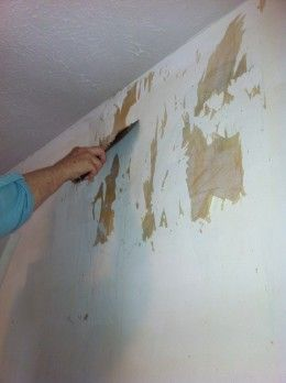 best way to remove wallpaper glue from sheetrock
