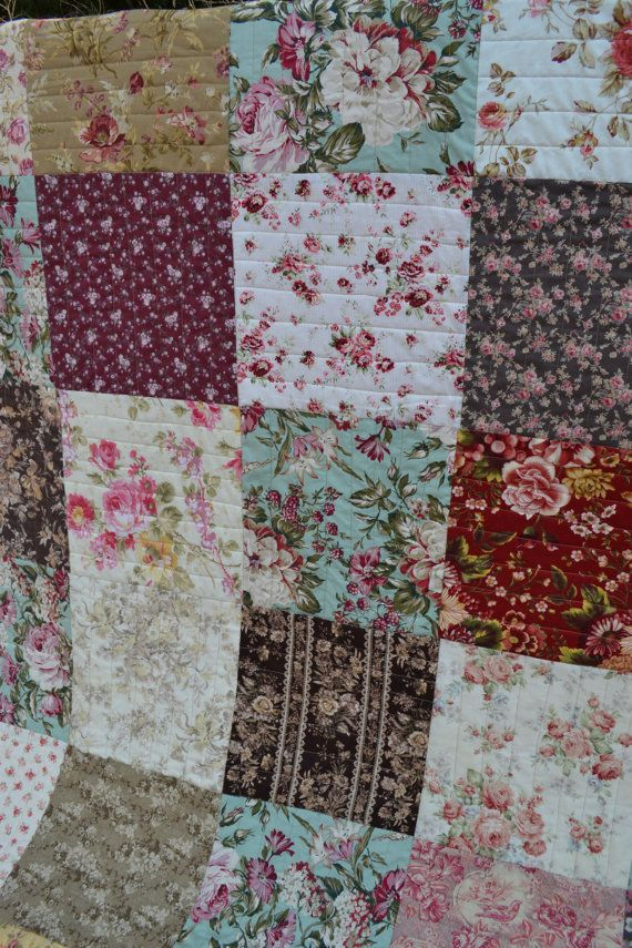 Country Traditional Quilt Cottage Chic Hippie Patchwork French