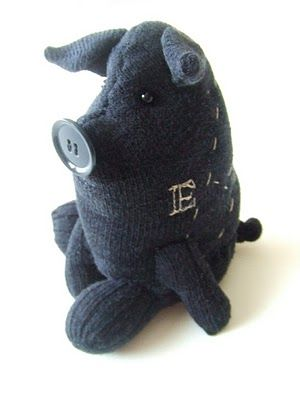 pig from one sock tutorial