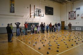 This was a new game we tried this year. A land mine field