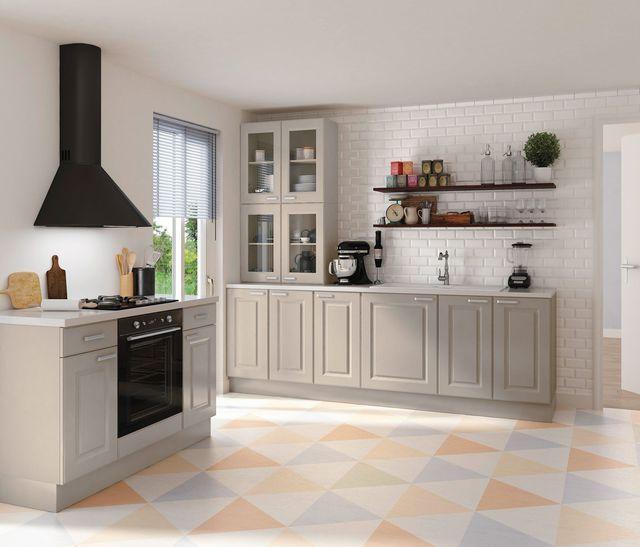 Cuisine Louise Structure En Panneaux De Particules Surfaces Melamines Ep 16 Mm Coloris Blanc Facades En Pan Cuisine Contemporaine Cuisine But Cuisine Taupe
