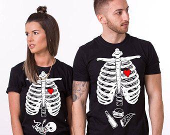 Camicia di maternità di Halloween, camicia Premaman, corrispondenza baby scheletro camicia, camicia di Halloween, Halloween camicie, neonato, UNISEX