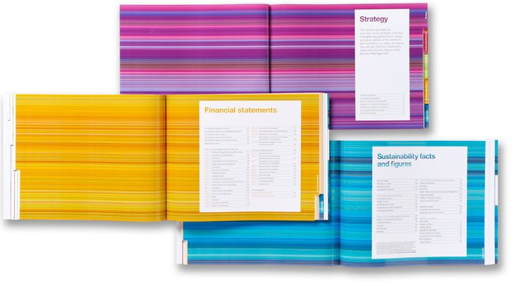 colorful annual report Type Pinterest Annual reports - financial statement layout