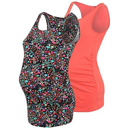 2 Pack Maternity Vest Tops | Women | George at ASDA