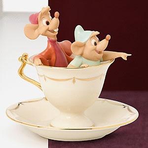 Cinderella - Tea Party Pals - Jaq and Gus - Lenox - Classics Lenox - World-Wide-Art.com - $95.00