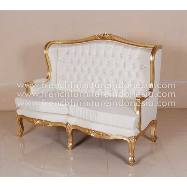 Sell Oreilles Wingback 2 Seater from Antique Sofa Furniture. We are reproduction furniture 100% export Furniture manufacturer with french furniture style and good quality finish. This Sofa is made from mahogany wood with good quality and treatment process and the design has a strong construction, suitable to your living room. #FurnitureOnline #IndonesiaFurniture #WholesaleFurniture #GalleryFurniture #JeparaFurniture