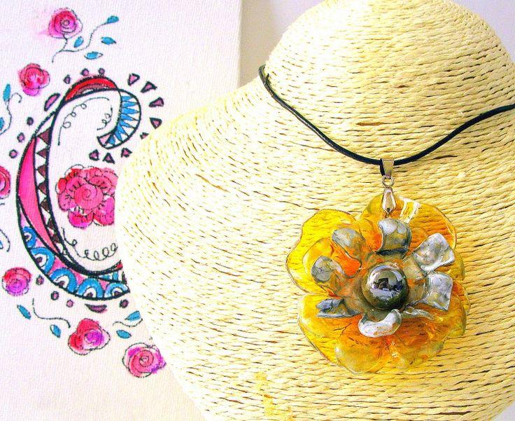 rosas de cha - #209 Eco Friendly Necklace, Artisan Pendant | Eco Colar