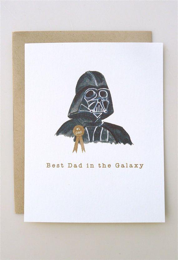Vatertagskarte Darth Vader – lustiger Vatertag – Star Wars – handgefertigt – …   – Fathers Day Gifts for Dad –