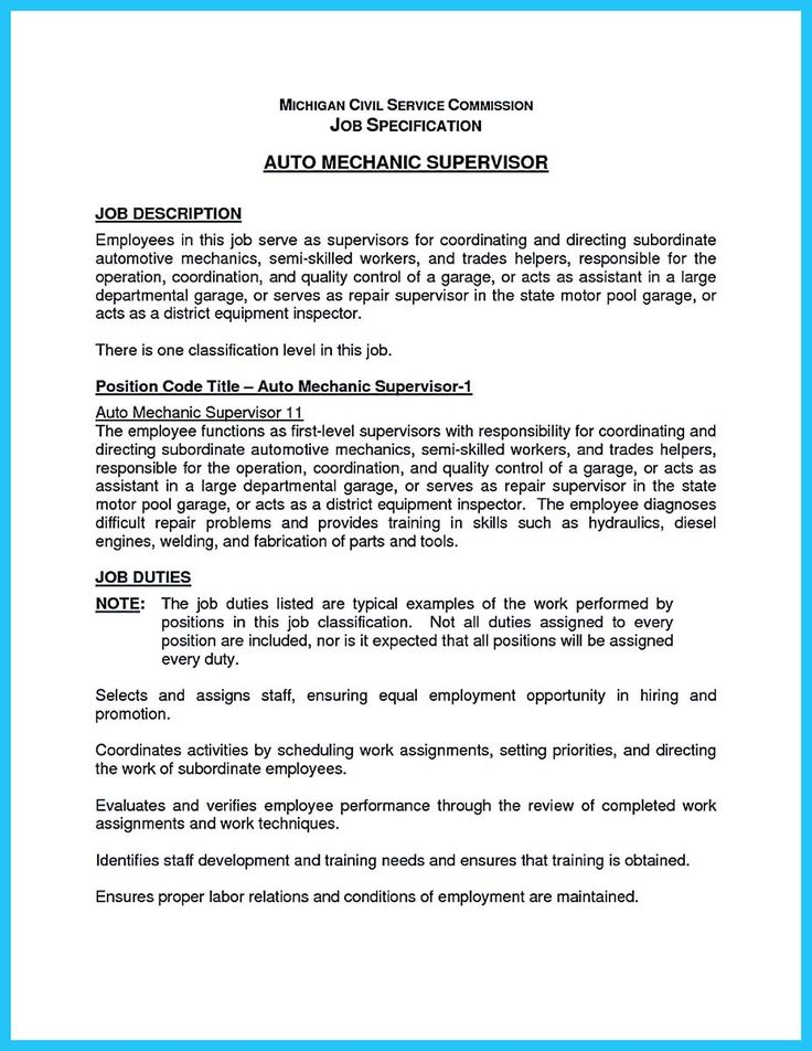 [ Cipanewsletter Auto Mechanic Job Description Resume Samples Resumes  Sample Monster ]   Best Free Home Design Idea U0026 Inspiration  Auto Mechanic Job Description