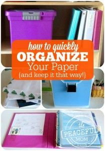 Organize Your Papers Fast -- and keep them organized -- The Peaceful Mom