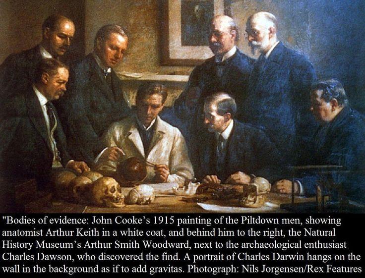 "December 18th, 1912 - Charles Dawson announces the ""Piltdown Man"",  British archaeology's greatest hoax:"