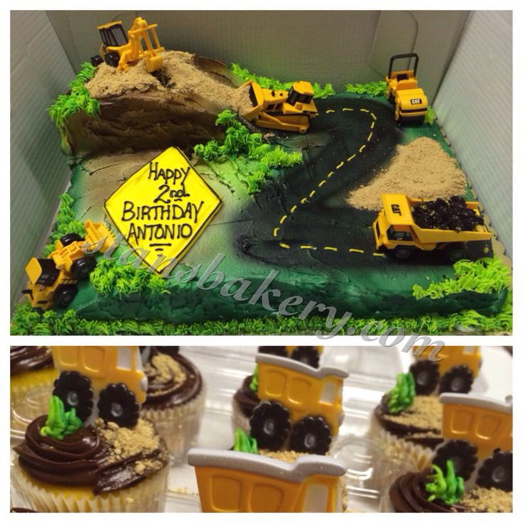 Construction birthday cake