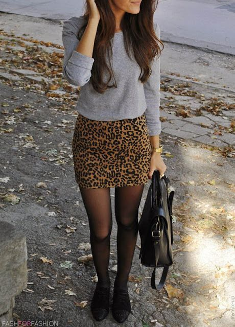 leopard print skirt fall outfit F/W13 Fashion | Hot fashion and you