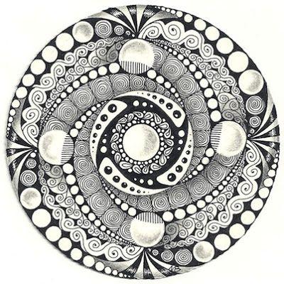 Enthusiastic Artist: Black and white zendalas