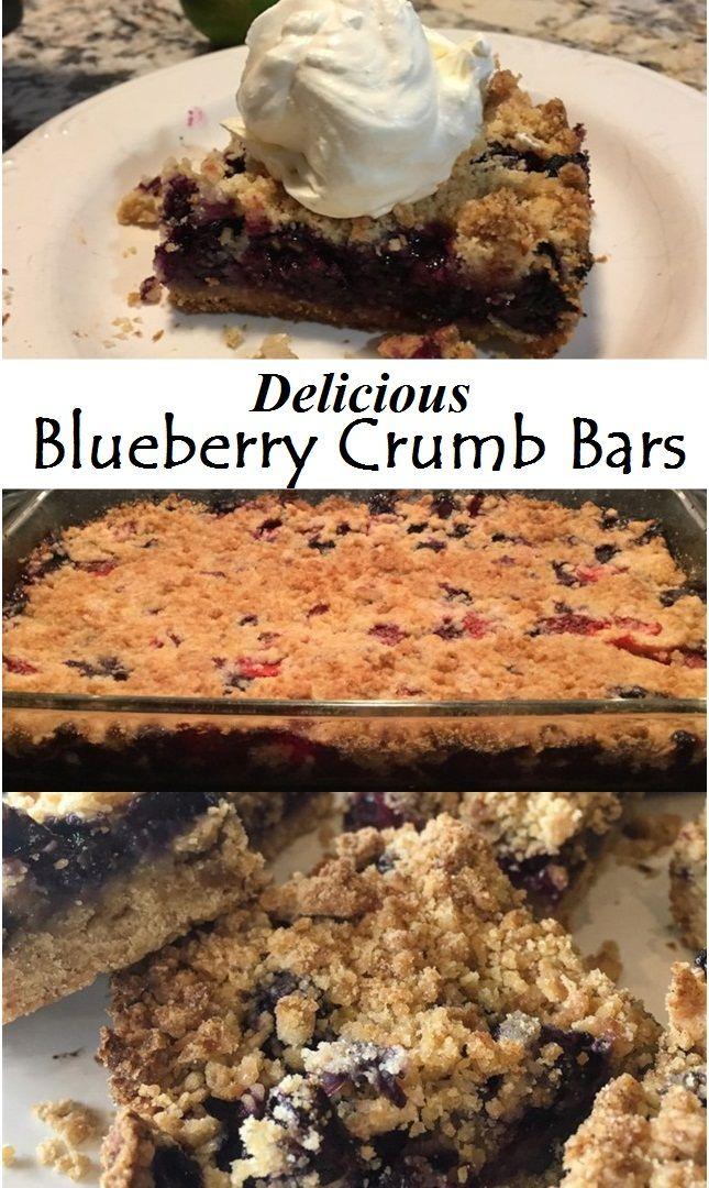 Delicious Blueberry Crumb Bars Easy Dessert Recipes Quick Blueberry Recipes Easy Blueberry Desserts Recipes
